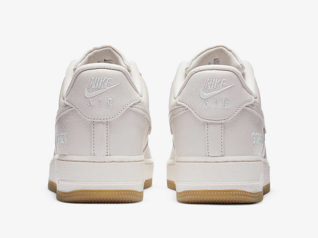 Pánské bílé tenisky Nike Air Force 1 Gore-Tex White Sail Cream Gum DC9031-001 nízké kožené boty a obuv Nike AF1