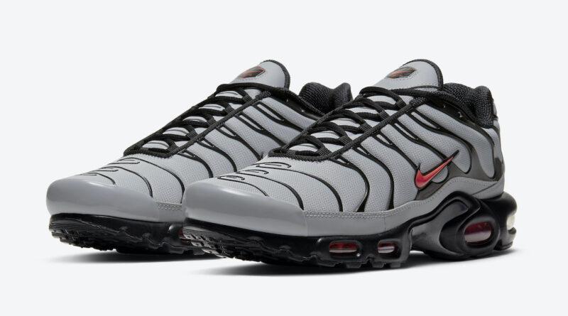 Pánské šedé černé tenisky a boty Nike Air Max Plus Grey/Black/Red DC1936-002 nízké sportovní botasky a obuv Nike