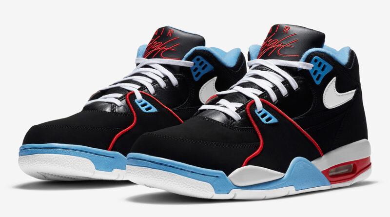 Pánské černé tenisky a boty Nike Air Flight 89 Black/White/Light Blue/Red DB5918-001 kotníkové botasky a obuv Nike