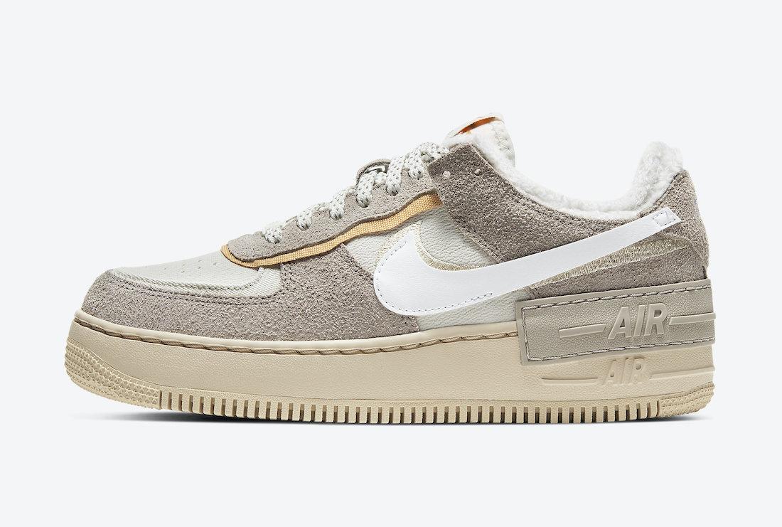 Pánské bílé béžové tenisky Nike Air Force 1 Shadow Wild White/Grey/Beige/Orange DC5270-016 nízké boty a obuv Nike AF1