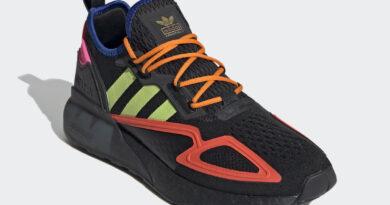 Pánské černé tenisky a boty adidas ZX 2K Boost Core Black/Solar Slime-Semi Solar Red FY4005 běžecké botasky a obuv adidas