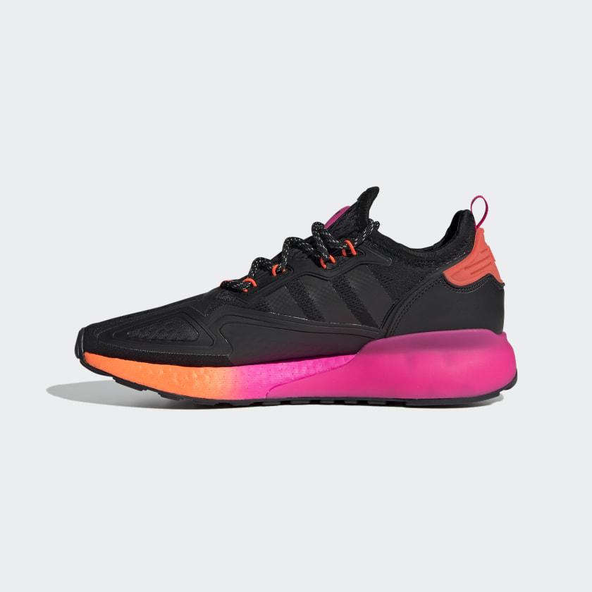 Pánské černé tenisky a boty adidas ZX 2K Boost Core Black/Core Black/Solar Red FV9997 běžecké botasky a obuv adidas