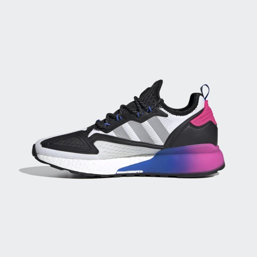 Pánské bílé tenisky a boty adidas ZX 2K Boost Cloud White/Grey Two/Core Black FX8835 běžecké botasky a obuv adidas