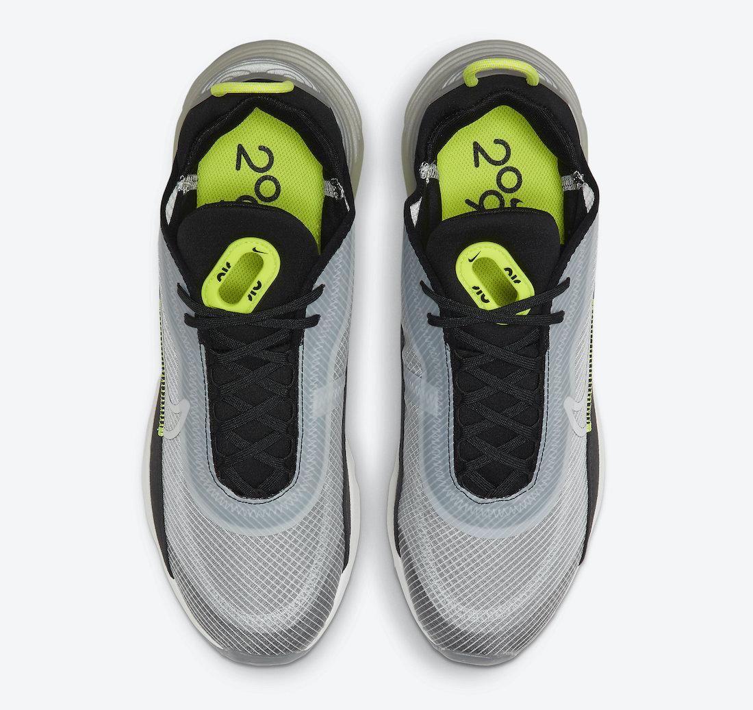 Pánské černé šedé tenisky a boty Nike Air Max 2090 Pure Platinum/Black-Lemon Venom CT1803-001 nízké sportovní botasky a obuv Nike