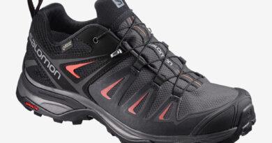 Dámské černé tenisky Salomon X Ultra 3 GTX W Magnet/Black/Mineral Red 398685 kotníkové turistické boty a obuv Salomon