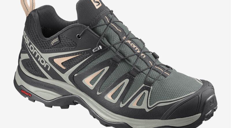 Dámské zelené černé tenisky Salomon X Ultra 3 GTX W Balsam Green/Mineral Gray/Bellini 409878 turistické outdoorové boty a obuv Salomon