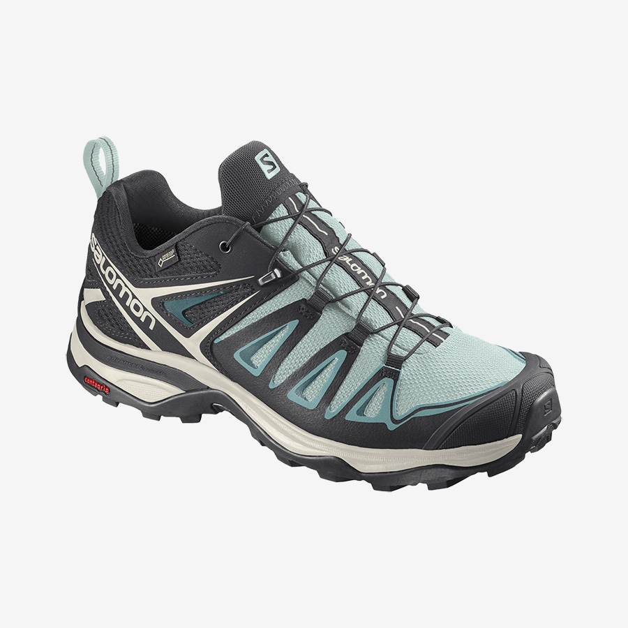Dámské modré černé tenisky Salomon X Ultra 3 GTX W Icy Morn/Meadowbrook/Vanilla Ice 409887 turistické outdoorové boty a obuv Salomon