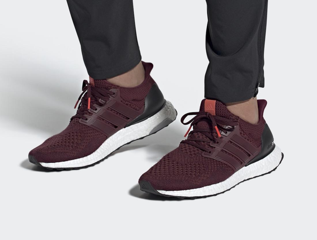 Pánské vínové tenisky a botasky adidas Ultra Boost 1.0 Maroon/Maroon-Black AF5836 nízké běžecké boty a obuv Adidas