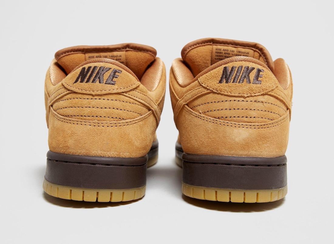 Pánské hnědé tenisky a botasky Nike SB Dunk Low Suede Wheat/Dark Mocha/Gum BQ6817-204 nízké semišové boty a obuv Nike SB