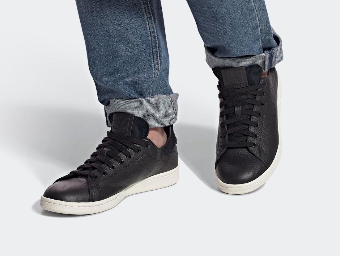 Pánské černé tenisky a boty adidas Stan Smith Core Black/Off White FY0070 kožené nízké botasky a obuv adidas