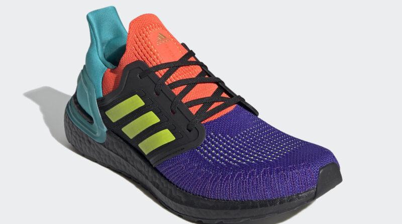 Pánské barevné tenisky a botasky adidas Ultra Boost 2020 Core Black/Semi Solar Slime-Gold Metallic FV8332 běžecké boty a obuv Adidas