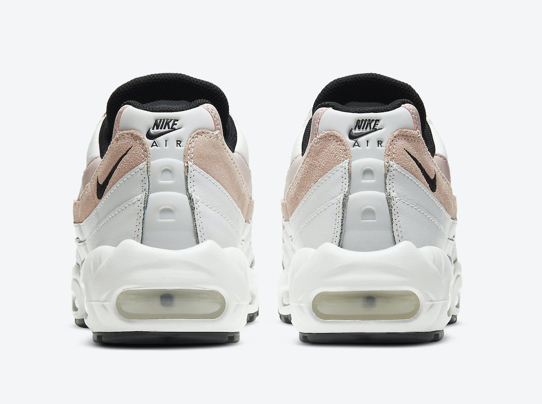 Pánské bílé tenisky a boty Nike Air Max 95 Summit White/Black-Champagne CV8828-100 sportovní nízké botasky a obuv Nike