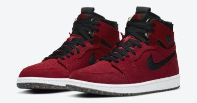 Pánské červené tenisky Air Jordan 1 High Zoom White/Core Black-University Red CT0978-600 semišové kotníkové boty a obuv Jordan