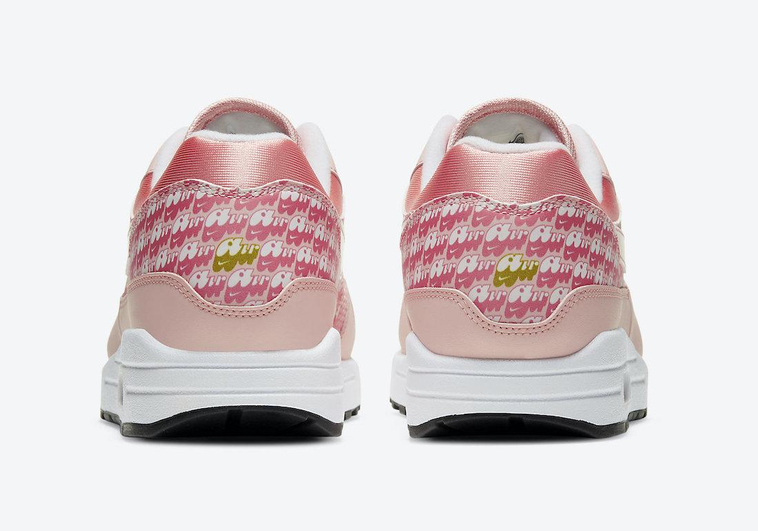 Dámské červené růžové tenisky a botasky Nike Air Max 1 Atmosphere/Atmosphere-True White CJ0609-600 nízké sportovní boty a obuv Nike