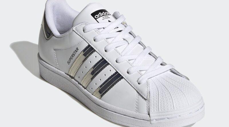 Pánské bílé tenisky a boty adidas Superstar Cloud White/Silver Metallic-Core Black FW3915 kožené nízké botasky a obuv adidas