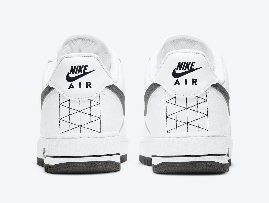 Pánské bílé tenisky a botasky Nike Air Force 1 Low White/Black/Grey-Dark Grey DD7113-100 nízké kožené boty a obuv Nike AF1