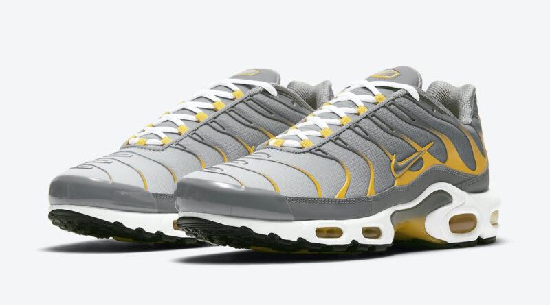Pánské šedé žluté tenisky a boty Nike Air Max Plus White/Black/Grey-Yellow DD7111-001 nízké sportovní botasky a obuv Nike
