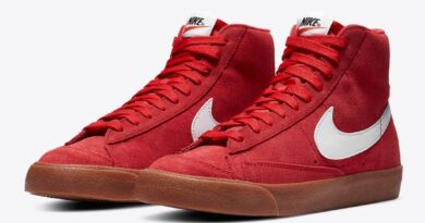 Pánské červené tenisky Nike Blazer Mid Suede Black/White/University Red-Gum CI1172-600 vysoké semišové kotníkové boty a obuv Nike