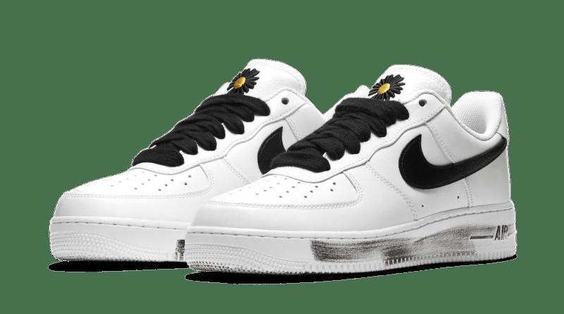 Pánské bílé tenisky a botasky PEACEMINUSONE x Nike Air Force 1 Para-Noise White/Black-White DD3223-100 nízké kožené boty a obuv Nike AF1