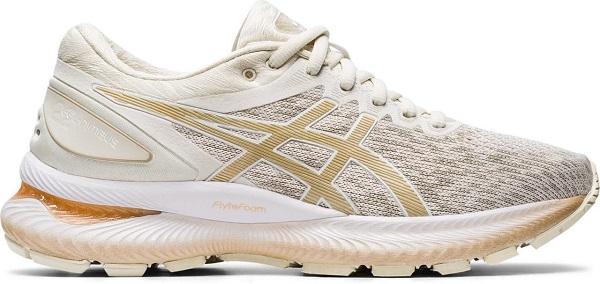 Běžecká dámská obuv Asics GEL-NIMBUS™ 22 KNIT 1012A678-201 bílé
