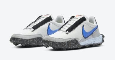 Pánské bílé tenisky a boty Nike Waffle Racer Crater Summit White/Photo Blue-Photon Dust CT1983-100 nízké sportovní botasky a obuv Nike