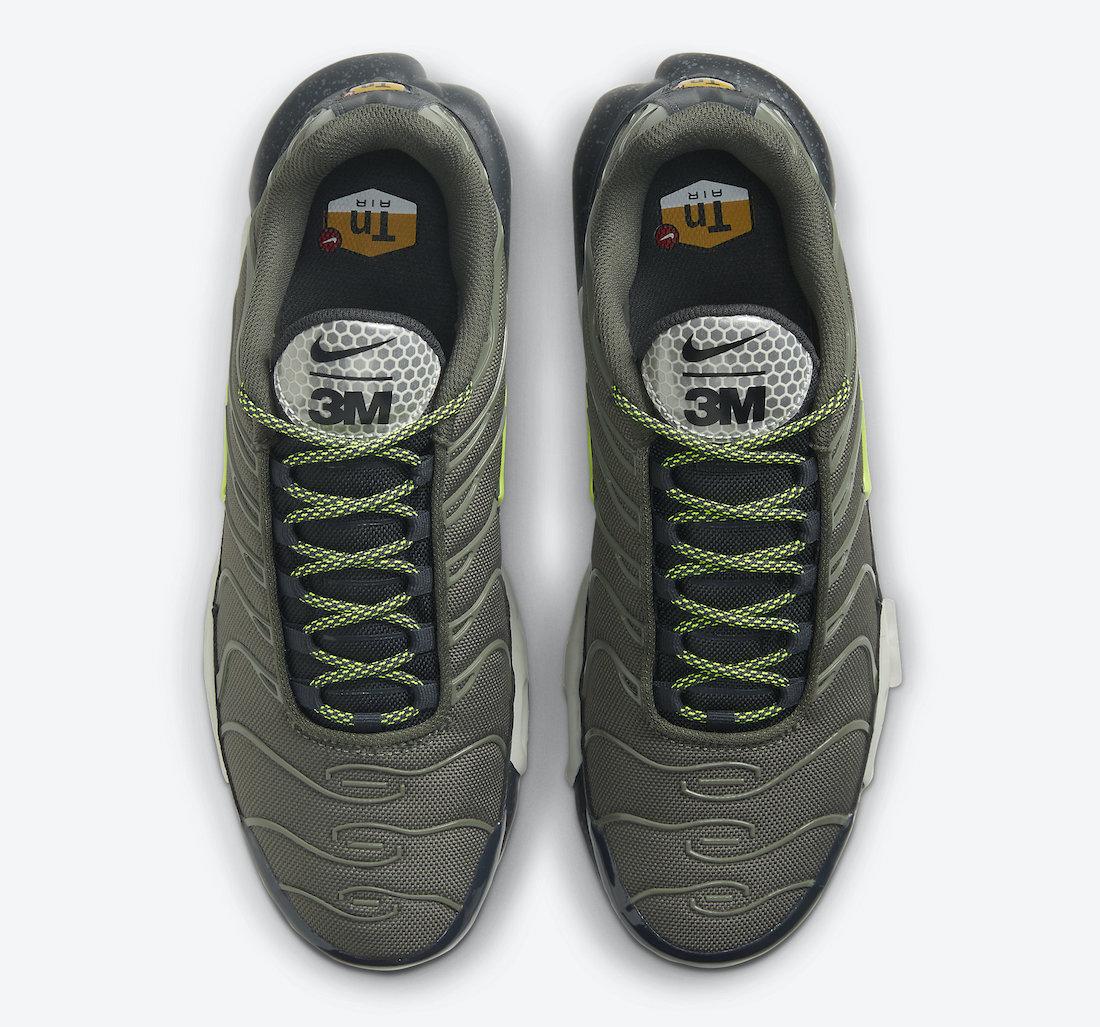 Pánské zelené tenisky a boty 3M x Nike Air Max Plus Twilight Marsh/Anthracite-Summit White-Volt DB4609-300 nízké sportovní botasky a obuv Nike