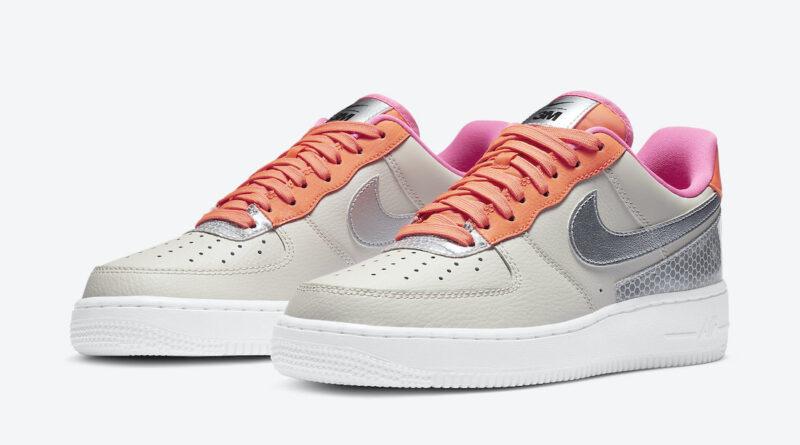 Dámské krémové tenisky a botasky 3M x Nike Air Force 1 Light Orewood Brown/Metallic Silver CT1992-101 nízké kožené boty a obuv Nike AF1