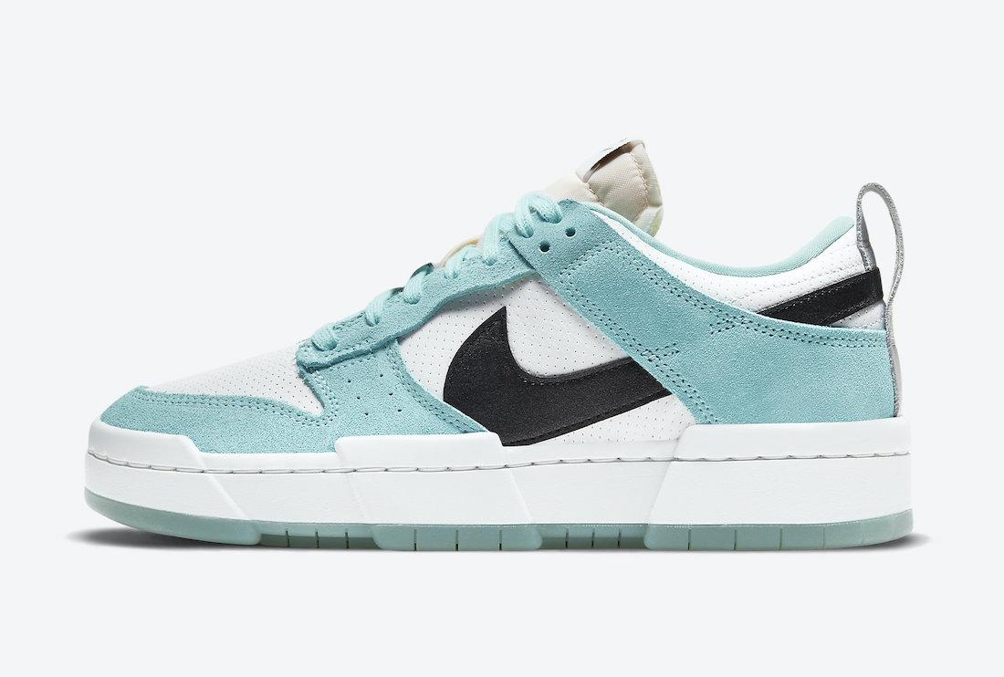 Dámské bílé modré tenisky a boty Nike Dunk Low Disrupt Copa/Black-Summit White-Metallic Silver DD6619-400 nízké botasky a obuv Nike