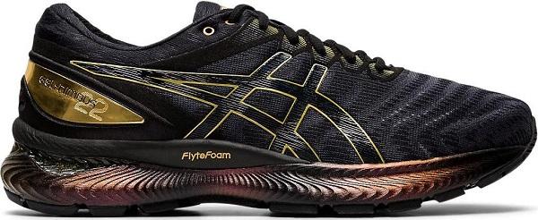 Běžecké pánské boty Asics Gel-Nimbus 22 Platinum 1011A779-001 černé