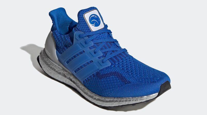 Pánské modré tenisky a botasky NASA x adidas Ultra Boost DNA Football Blue/Football Blue-Royal Blue FX7973 nízké běžecké boty a obuv Adidas
