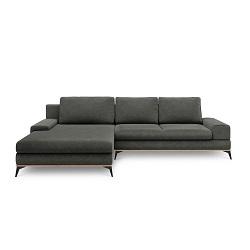 Tmavě šedá rozkládací rohová pohovka Windsor & Co Sofas Planet