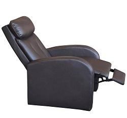 Relaxační polohovací křeslo KEA PU kůže - hnědá