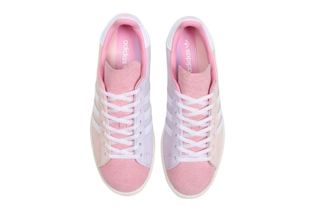 Dámské světle růžové tenisky adidas Campus Pink Tint/Cloud White/Purple Tint FY3548