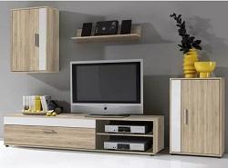 Sconto obývací stěna SALE dub sonoma-bílá