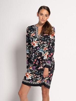 Barevné letní šaty Mishumo Dress black/multi-coloured MI-13830