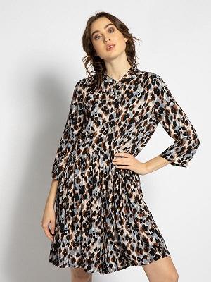 Béžovo hnědé letní šaty Heartkiss Dress beige/brown A0004338