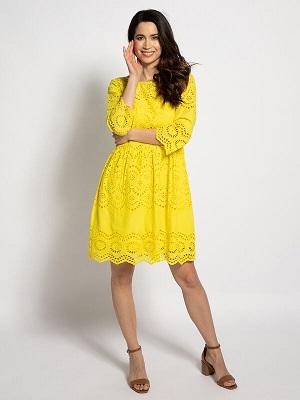 Nádherné žluté letní šaty Marc Cain Dress yellow A0012952