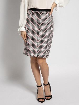 Elegantní černo růžová sukně Marc Cain Skirt black/pink/white A0013011