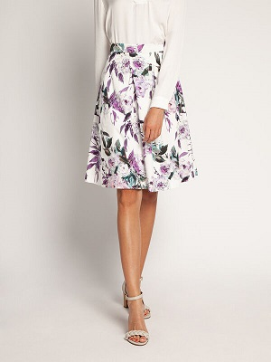 Krátká bílá letní sukně Malvin Skirt white MLV-0206