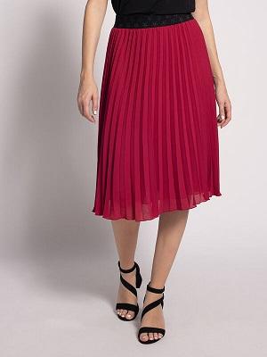 Tmavě růžová dlouhá sukně Malvin Skirt fuchsia MLV-0240