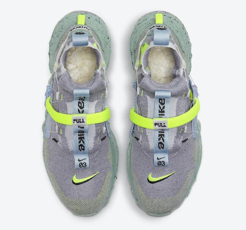 Kotníkové boty Nike Space Hippie 03 Healing Jade CQ3989-004
