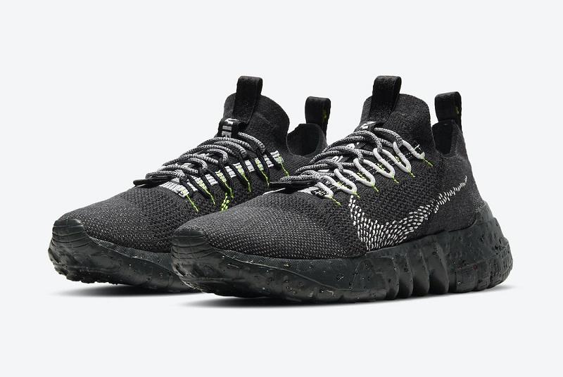 Nízké černé boty Nike Space Hippie 01 Black Volt DJ3056-001