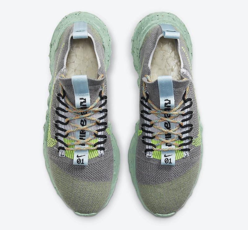 Nízké šedé boty Nike Space Hippie 01 Grey Volt DJ3056-002