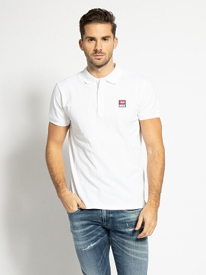 Pánská bílá polokošile Diesel Regular-Fit Polo Shirt white