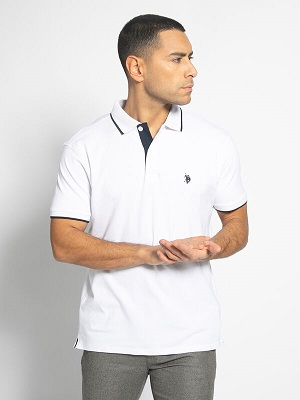 Pánské bílé polo triko U.S. Polo Assn. Polo Shirt white/navy