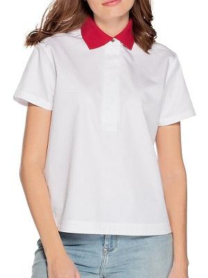 Dámské bílé polo tričko Tommy Hilfiger Polo white/red TH-48233
