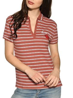 Dámské hnědo bílé polo tričko Tommy Hilfiger Polo brown TH-44244