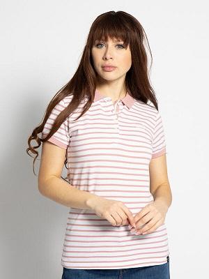 Dámské růžovo bílé polo tričko Superdry Polo Shirt pink/white