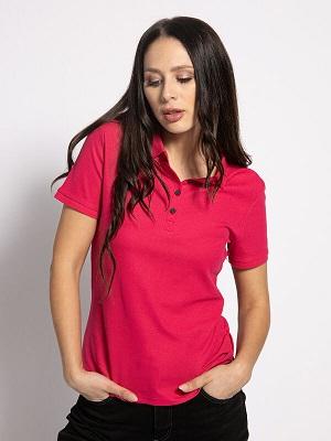 Dámské tmavě růžové polo tričko Calvin Klein Polo pink CK-13071