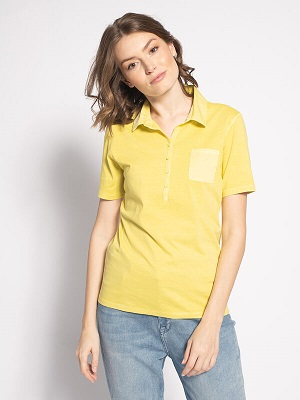 Dámské žluté polo tričko Marc O'Polo Polo Shirt yellow 2055